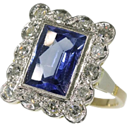 Sapphire and Diamond Ring ca.1950