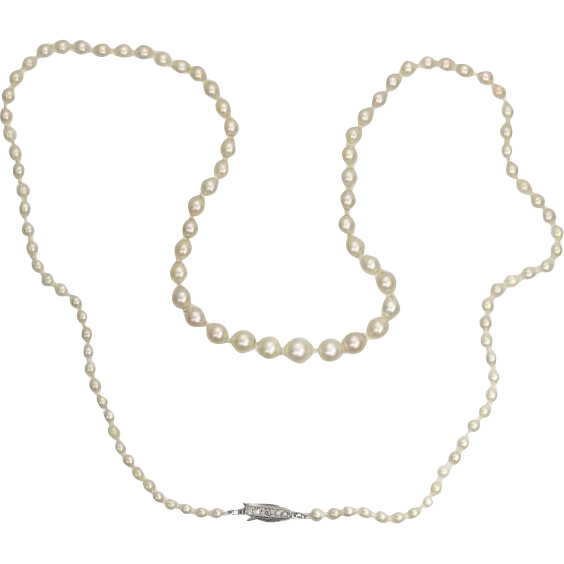 deco pearl necklace ca 1920 from adin on ruby