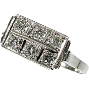 Deco Platinum and Diamond Engagement Ring ca.1930