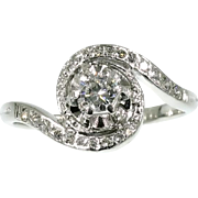 Halo Diamond Engagement Ring ca.1950
