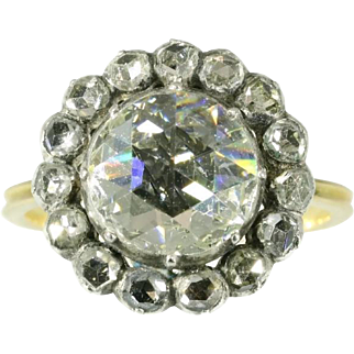 Victorian Big Diamond Engagement Ring ca.1870