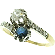 Antique Sapphire and Diamond Ring France ca.1880