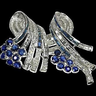 Sapphire and Diamond Dress Clip ca.1950
