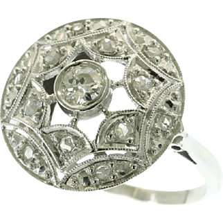 Art Deco Diamond and White Gold Ring ca.1920