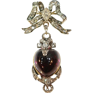 Victorian Snake Garnet Pendant ca.1830