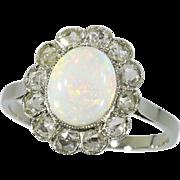 Opal and Diamond Art Deco Ring ca.1920