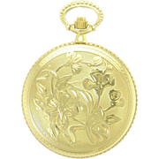 Vintage 14k Gold Le Soir 17 Jewel Swiss Made Pocket Watch