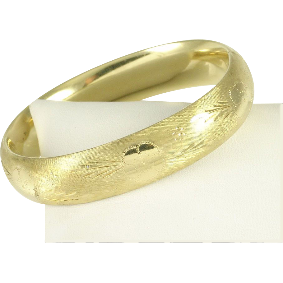 ladies edge bracelet bangle solid gold band bangles flat image collection bead slave yellow