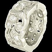 Art Deco Diamond Platinum Eternity Band - Video