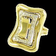 Diamond and 14k Yellow White Gold Estate Ring