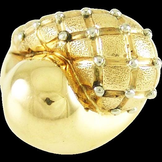 Retro Vintage 18k Rose White Gold Bypass Ring