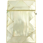 Beautiful Antique Mother-of-Pearl Calling Card Case