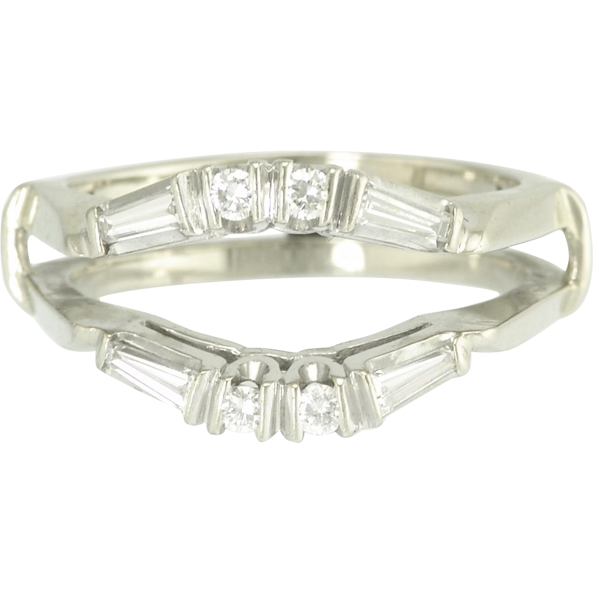 estate 14k white gold ring guard from adorn on