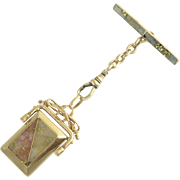 Beautiful Victorian Gold Quartz Fob Locket in 14k
