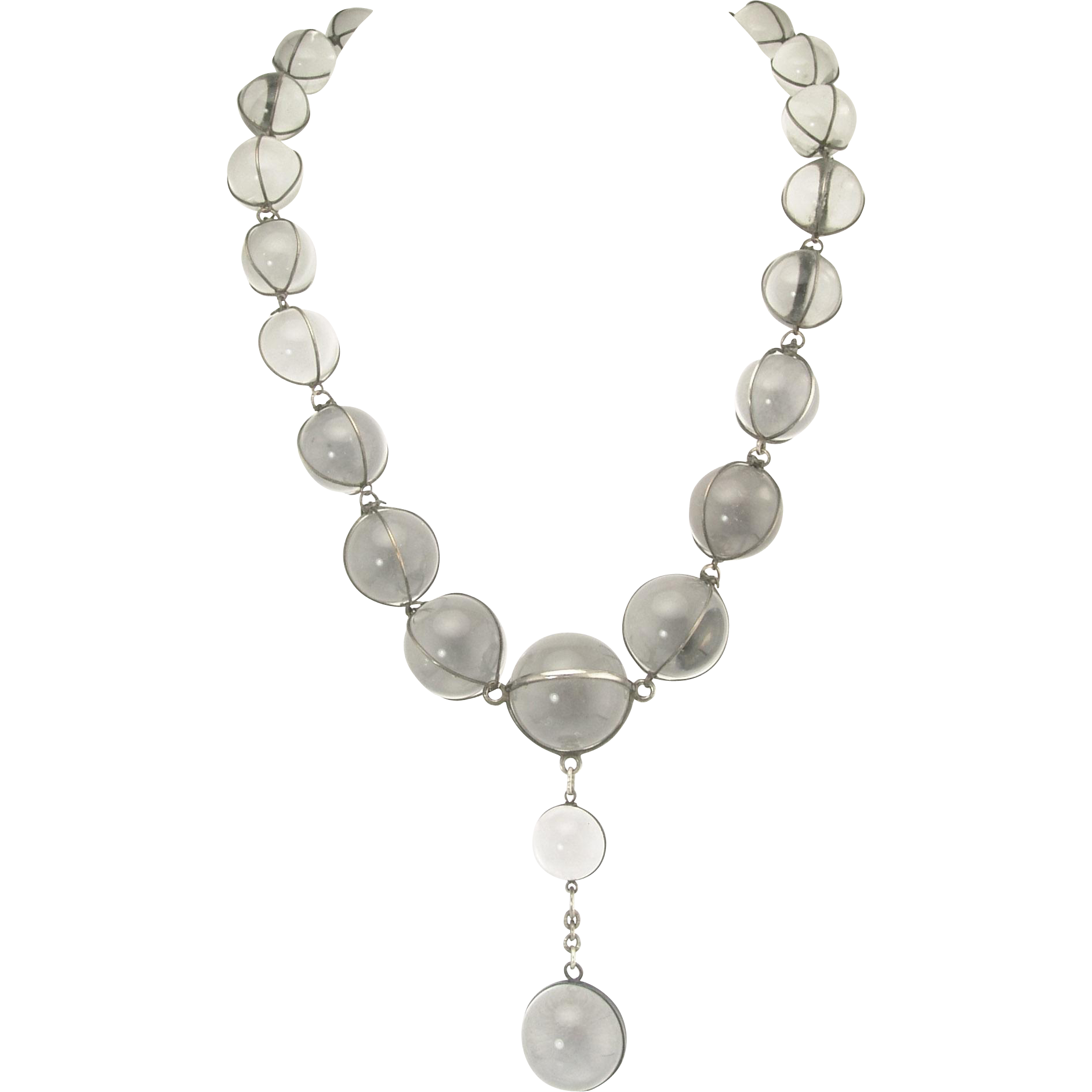 Outstanding Art Deco Pools-of-Light Necklace