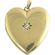 Endearing Diamond Heart Locket in 14k Gold