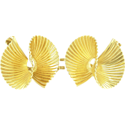 Stylish Retro Clip-On Earrings in 14k
