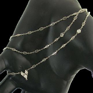 Coveted Art Deco Diamond & Platinum Chain