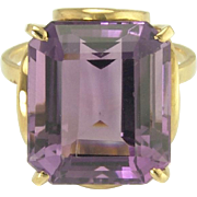 Vintage Amethyst 18k Gold Ring