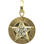 Vintage Diamond and 14k Gold Star Pendant