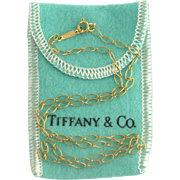 Tiffany & Co 18k Gold Oval Link Chain