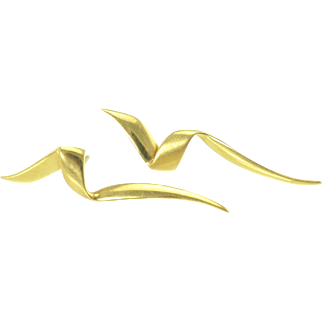 Tiffany & Co Paloma Picasso Chrysalis Earrings in 18k Gold - Vintage 1983