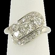 Lovely Vintage Diamond Ring in 14k White Gold