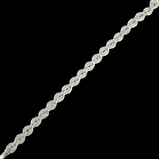Vintage 4.00 cttw Marquise and Round Brilliant Cut Diamond and Platinum Line Link Bracelet