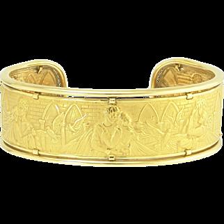 Carerra y Carerra 18k Gold Romeo and Juliet Cuff Bracelet