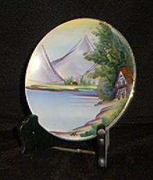"Hand Painted, Artist Signed Porcelain Plate- ""Japan""-On Back"