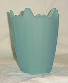 Viking Light Blue Satin Glass Vase