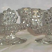 "Fostoria ""American"" Double Candle Holders"