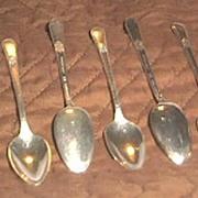 "Six Rogers Bros. Demitasse Spoons ""Adoration"" Pattern"
