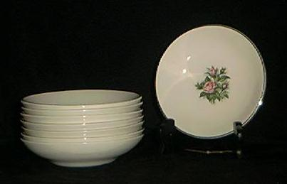 Minerve Rose Pattern Sauce Or Berry Bowls