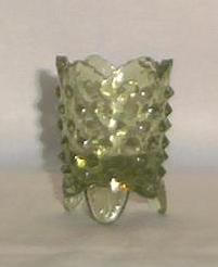 Fenton Green Hobnail Toothpick Holder