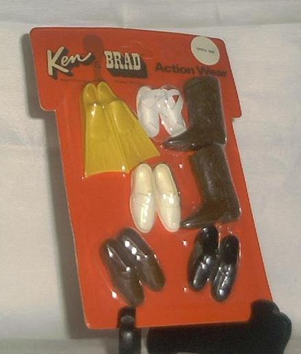 "Mattel Ken And Brad Action Wear ""Shoe In"""