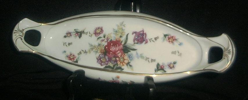 Hand Decorated Relish Dish
