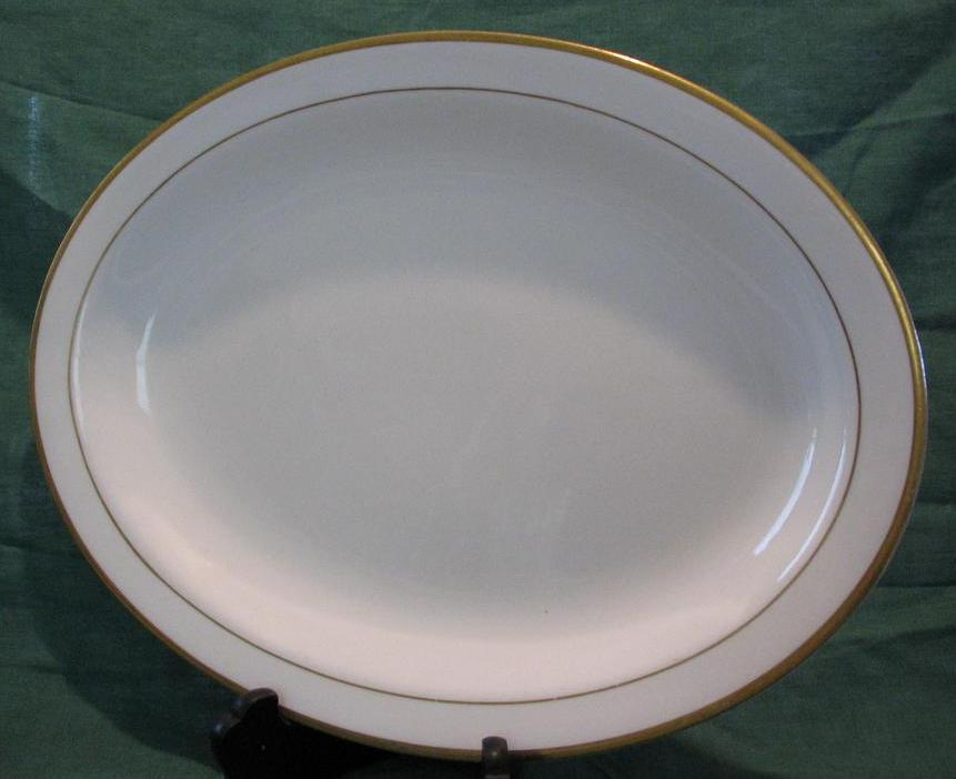 Gold Banded W. S. George Platter