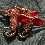 Hummingbirds In Flight Pin