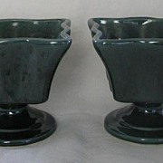 Pair Of Pottery Vases Marked 411-U.S.A.