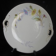 Pierced Handled Porcelain Cake Plate