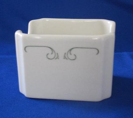 "Syracuse China ""Brentwood"" Sugar Caddy"