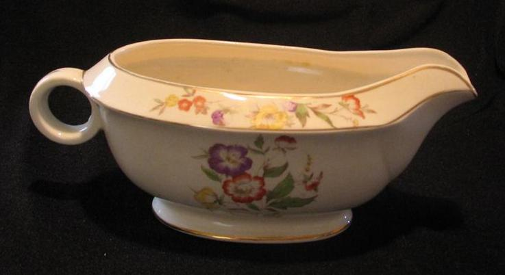 Paden City Pottery Gold Trimmed Gravy Boat From