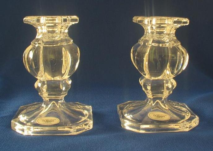 "Gorham ""Crystalites Collection"" Baroque Candlesticks"