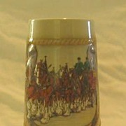 Budweiser Horseshoe Stein From1987