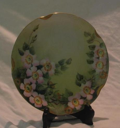 Jaeger Company Wild Rose Decorated Plate