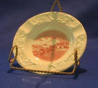 Wedgwood Souvenir Ashtray From Fort Ticonderoga