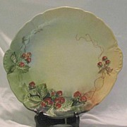 Large Limoges Hand Decorated Cake Plate Or Charger
