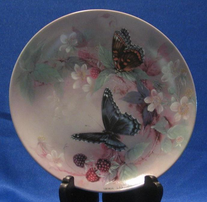 "W. S. George ""Red Spotted Purple"" Lena Liu Collector Plate"