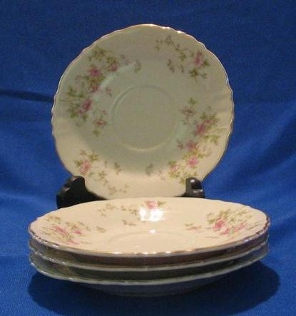 "Three ""Stansbury"" Pattern Saucers From Syracuse China"